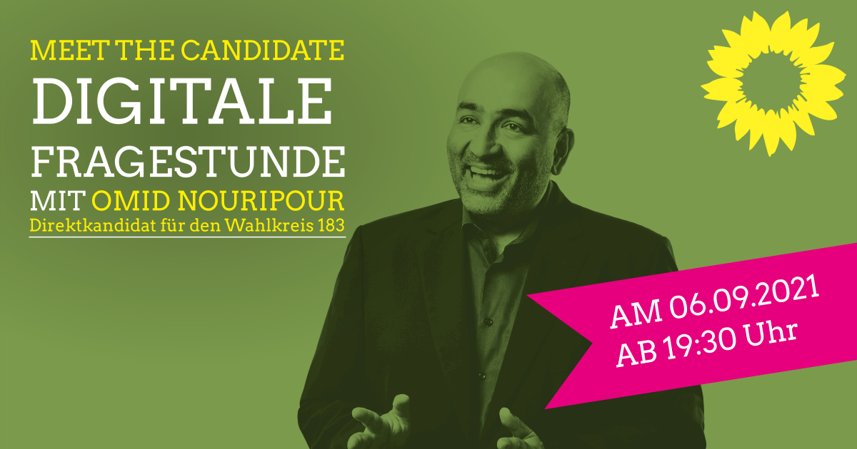 """""""Meet the Candidate"""": Digitale Fragestunde mit Omid Nouripur"""